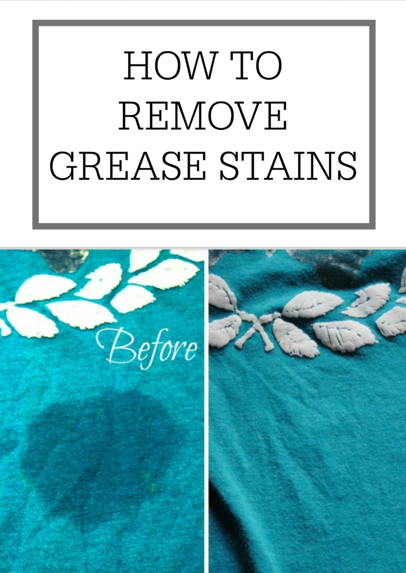 How to remove grease stains simple homemaking for How to remove oil stain from t shirt