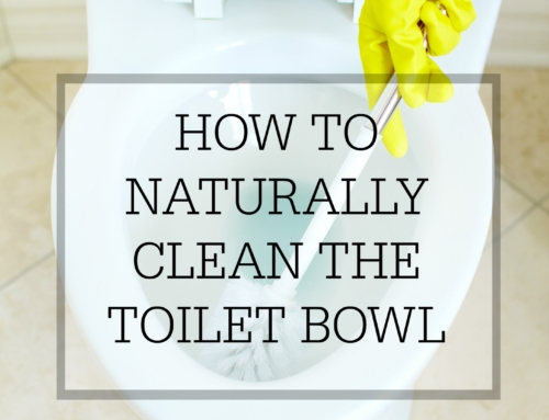 How to naturally clean the toilet bowl