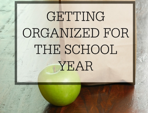 Getting Organized for the School Year