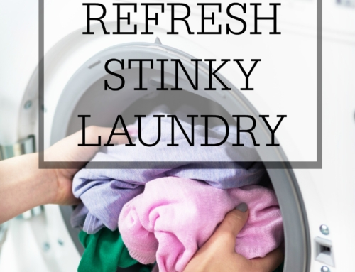 How to refresh stinky laundry