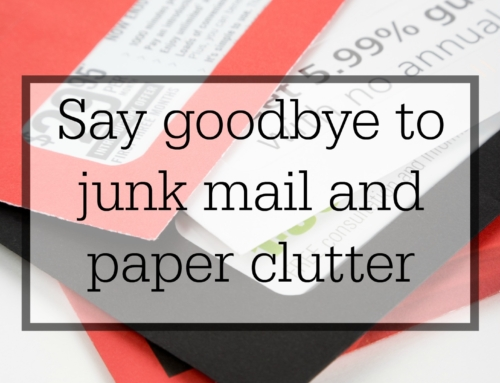 How to deal with junk mail and paper clutter
