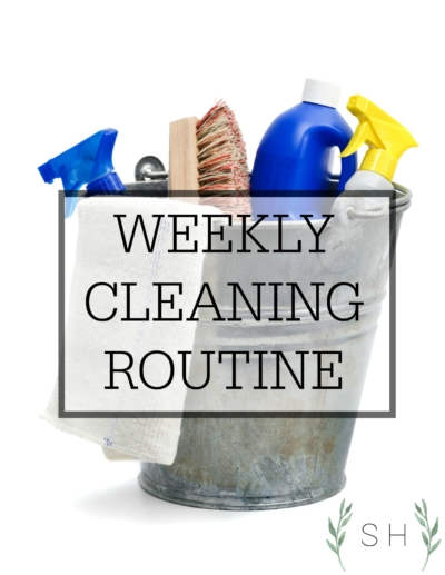 Weekly cleaning routine where the entire house is clean at one time.